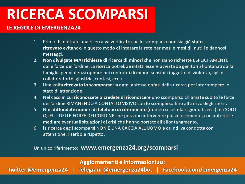 Ricerca Scomparsi Emergenza24